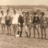 Přátelský zápas Spartak Batelov - BSG Hartha (NDR) 2:3 1973